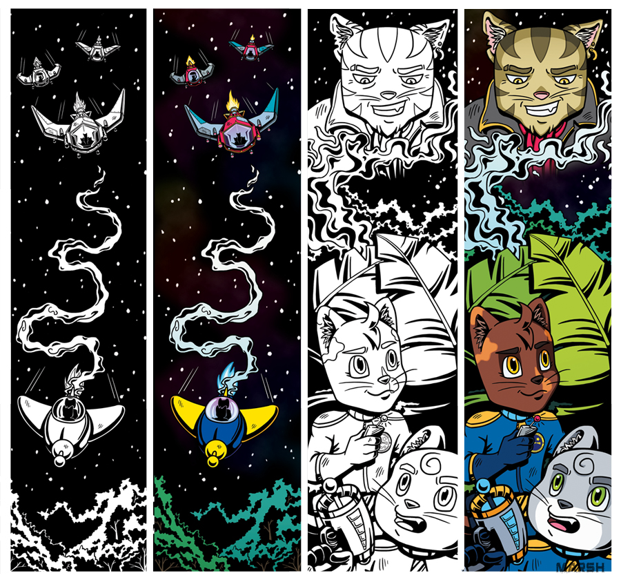 Bookmarks to accompany our short story in  Sci-Fi On the Rock (2016)  -  Super Galactic Space Explorers