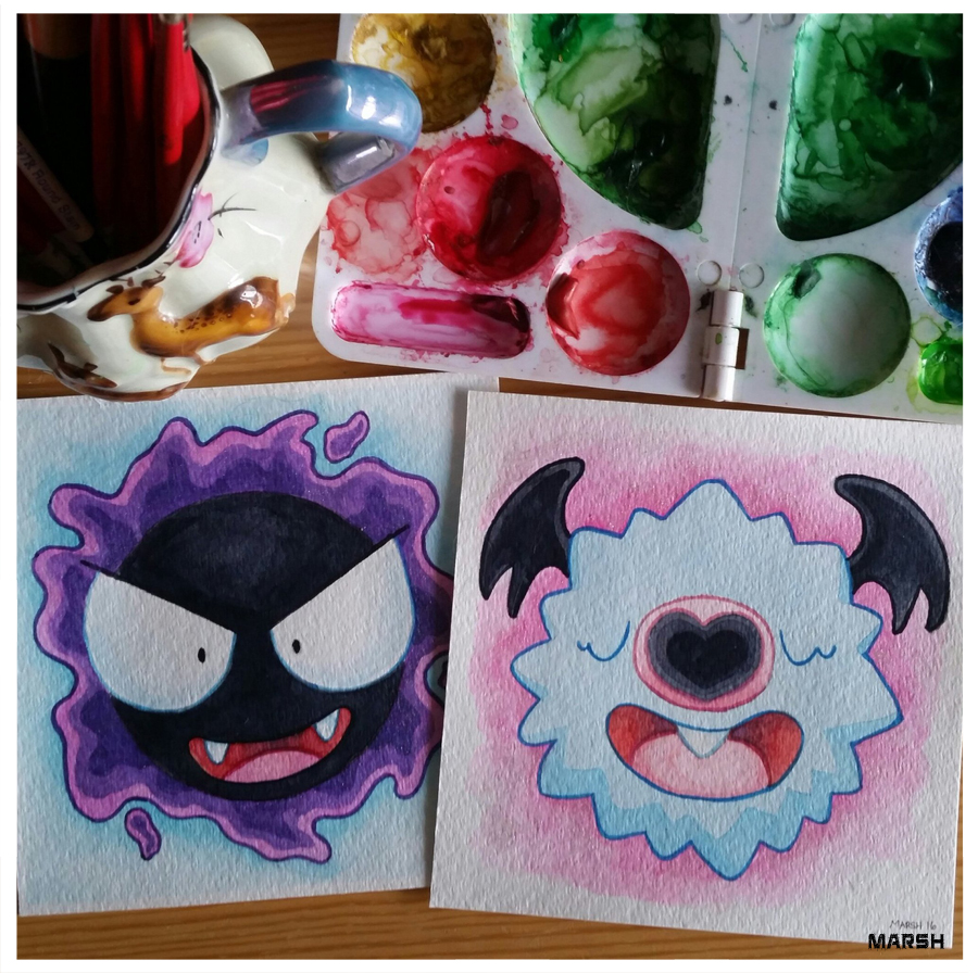 Gastly and Woobat  Pokémon