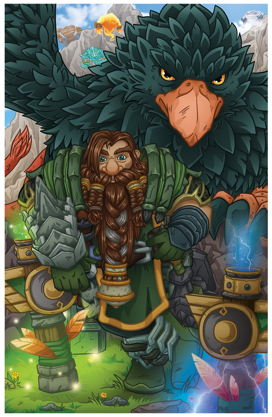 Gronthrain Earthbeard -  Commission World of Warcraft