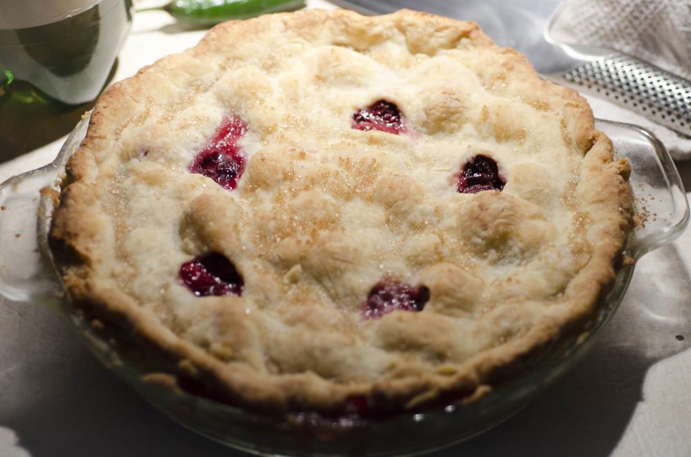 Boozy cherry pie