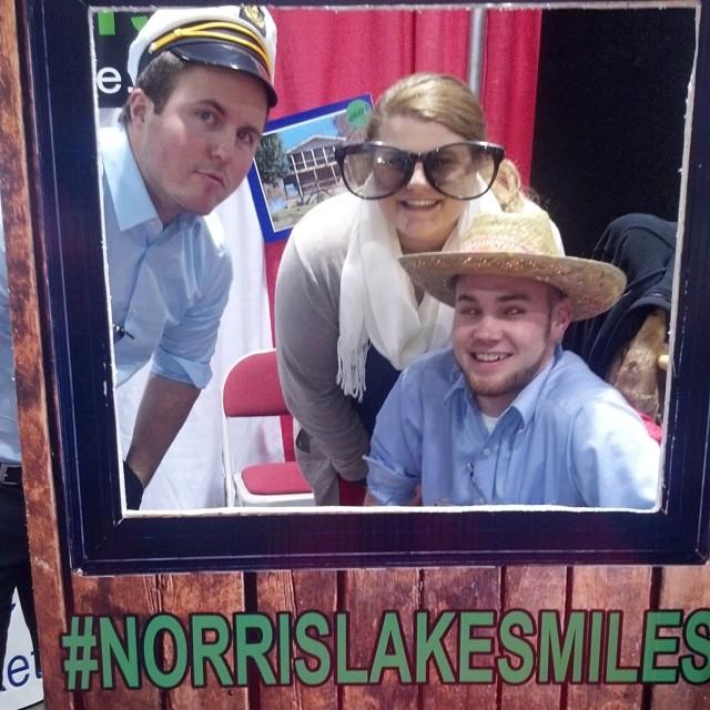 #norrislake #cincinnatiboatshow  #norrislakesmiles  having fun at the show!