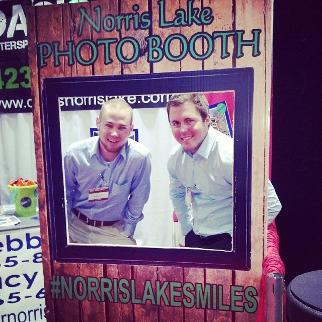 #cincinnatiboatshow Check out our booth! #partyoasis #norrislakesmiles