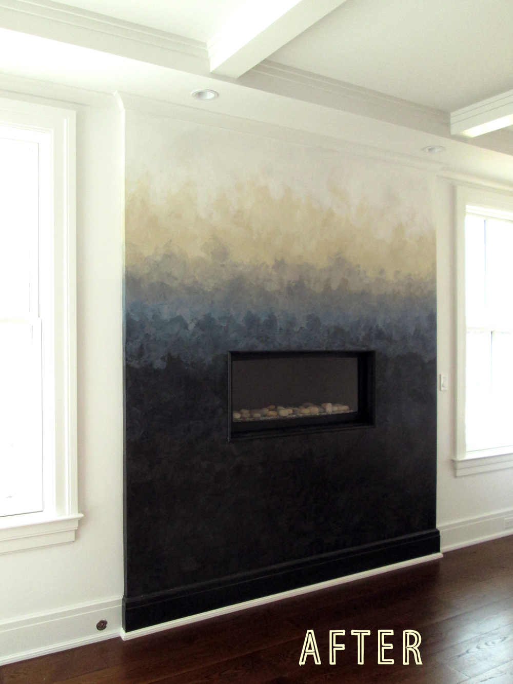 OMBRE EFFECT USING VENETIAN PLASTER.