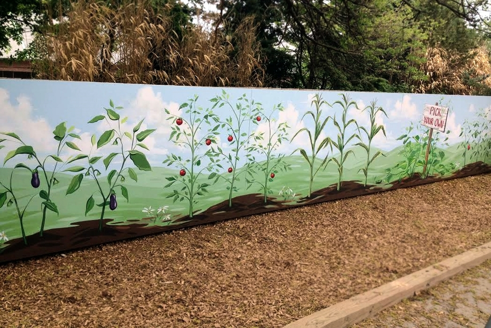 GARDEN MURAL AT ROGER WILLIAMS PARK ZOO