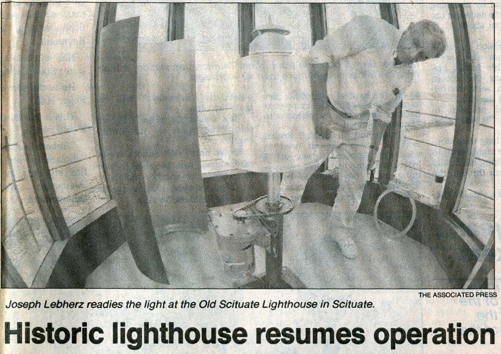 In 1994 Scituate Light returned to service as a private aid to navigation. It had been dark for 134 years.