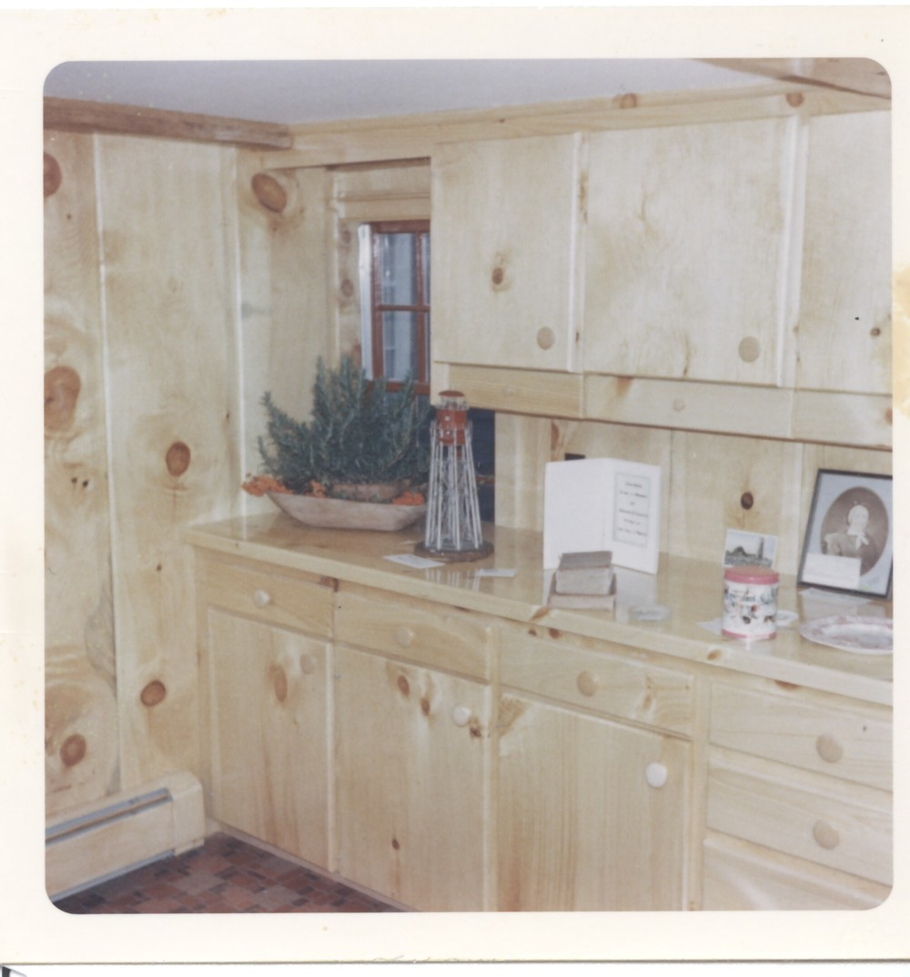 ​An early picture of the renovated kitchen after the Society began work.