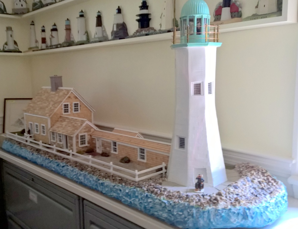 A Lighthouse model second to none can be found in the Maritime room of the Little Red Schoolhouse