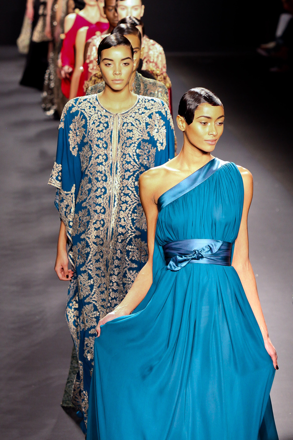 Models walk the runway for NAEEM KHAN collection