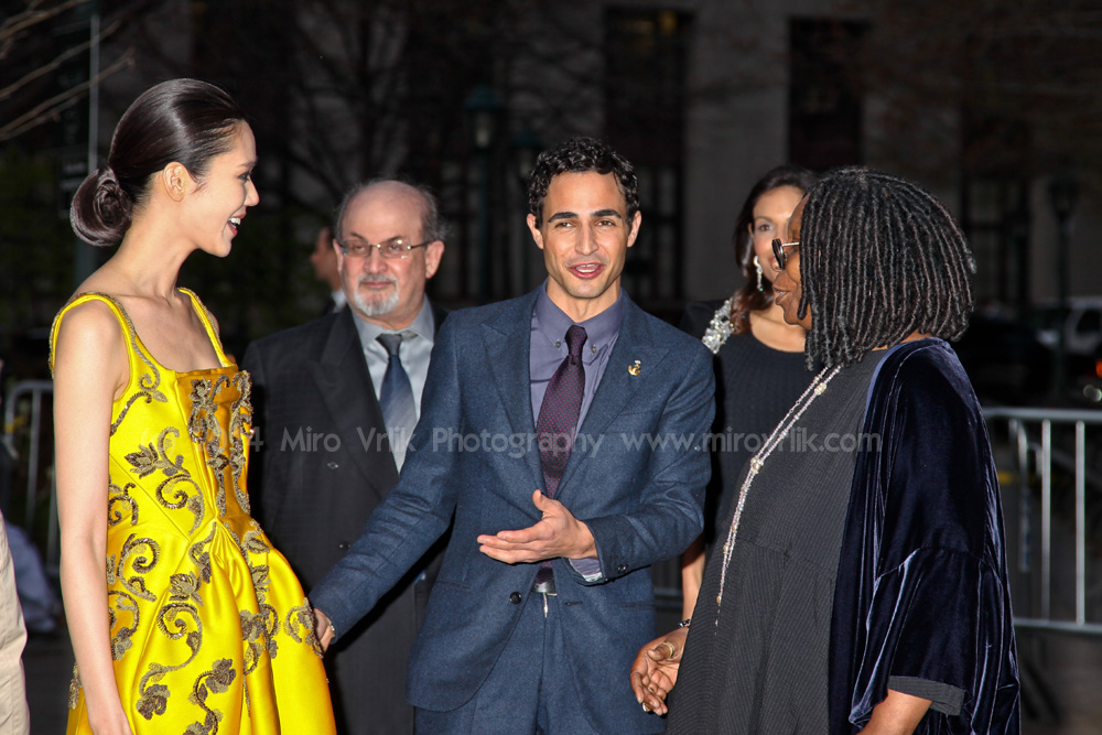 Designer Zac Posen,  Actress Whoopi Goldberg,Actress  Tao Okamoto, and Salman Rushdie attends the Vanity Fair Party 2013 Tribeca Film Festival  on April 16, 2013 in New York City