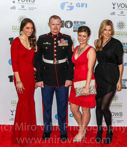 Guest,Staff Sergeant Danie Ridgewayl, Jenna Ridgeway  and Mary Alice Stephenson