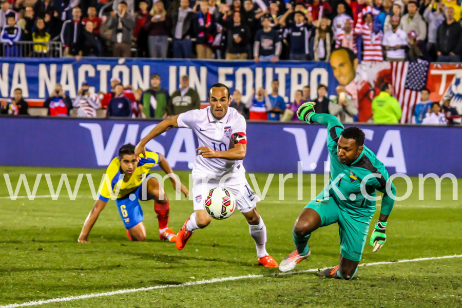 HARTFORD - OCTOBER 10:   Landon Donovan in action on US International Friendly match between US Men`s National Team vs Ecuador, final score 1 - 1, on October 10, 2014, in Rentschler Field stadium, Hartford, USA.