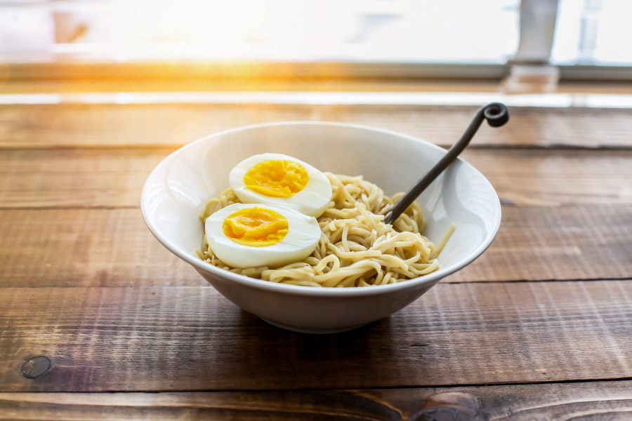 Ramen noodle with eggs  It was winter time and this mean more studio shoot for me.  In my affiliate link you can find out what camera, lens and software I used for this photo