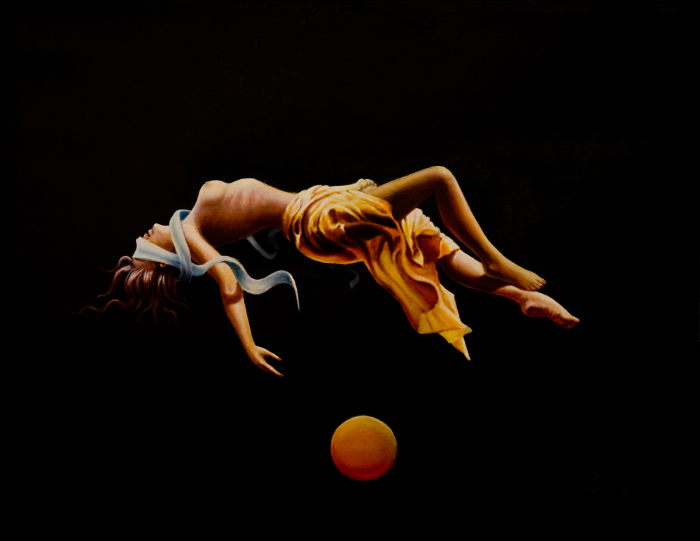 Levitation #1 (oil on canvas) sold