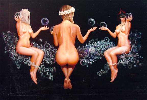 "Three Graces (oil on canvas 48""x60"") sold"
