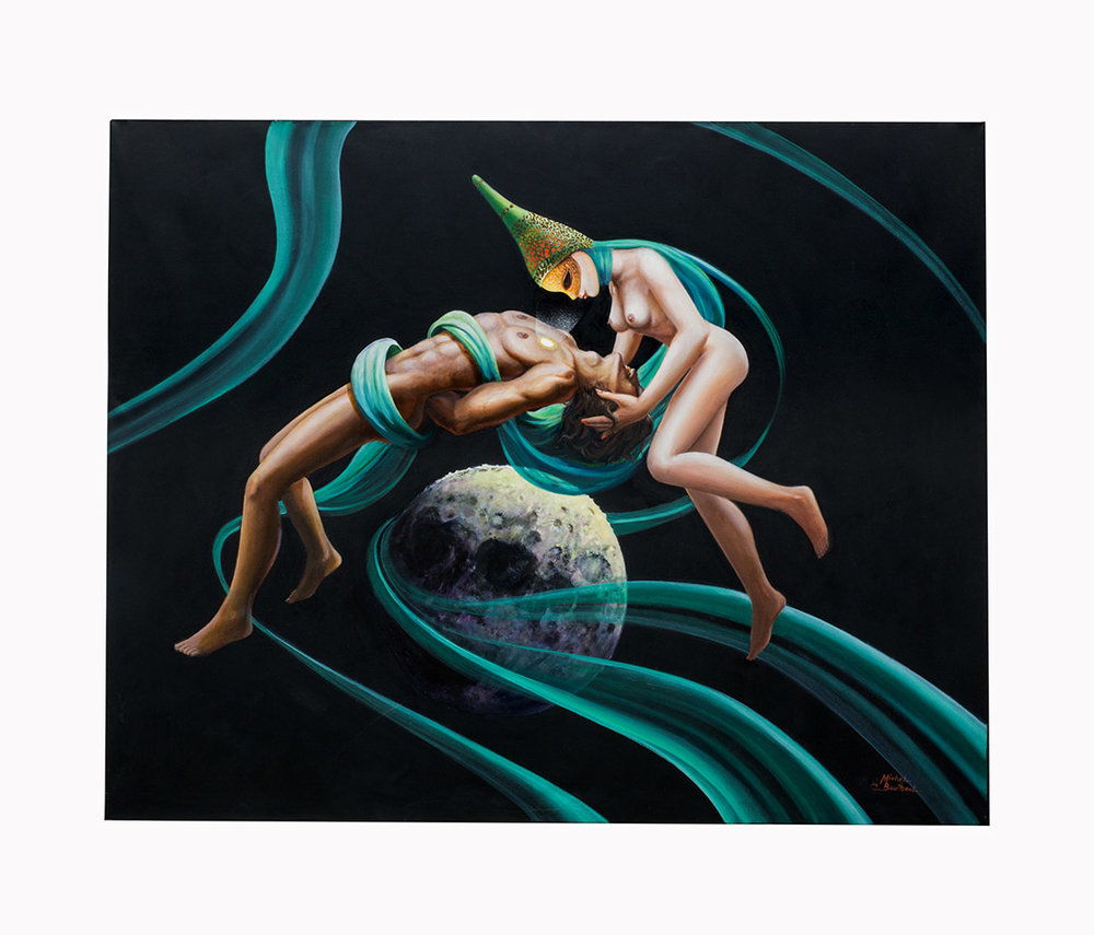 Adam and Eve On Top Of The Moon (SOLD)