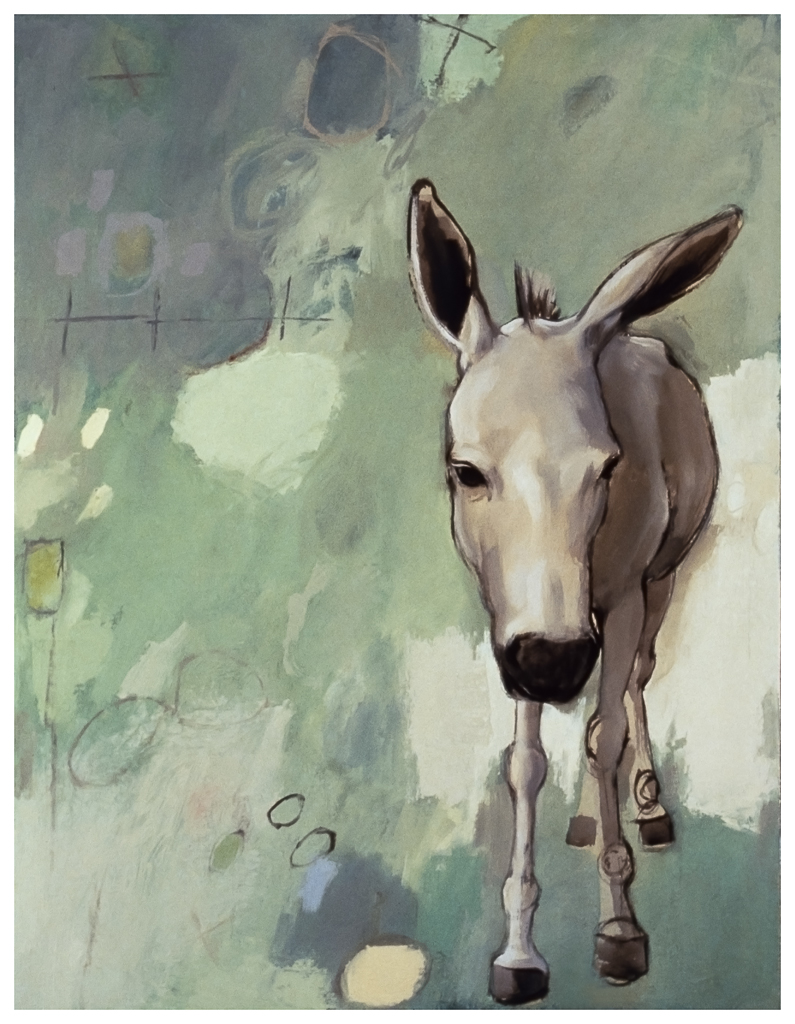 "Donkey, 1996, oil on canvas, 28""x22"""