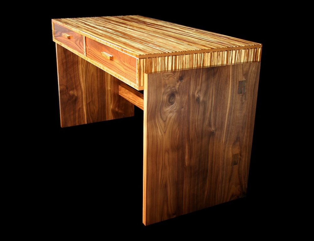 Bamboo & Walnut Desk