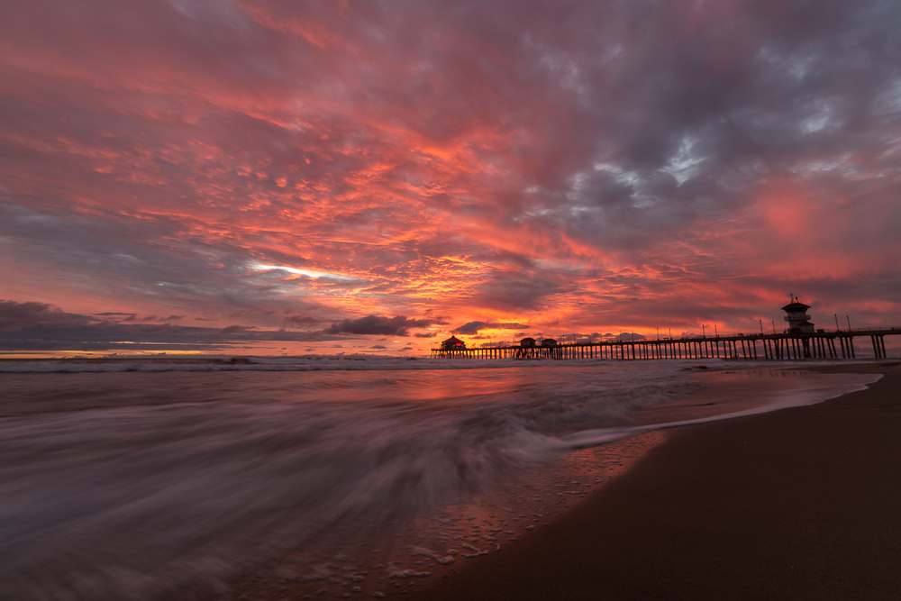 Sunset - Huntington Beach Pier.