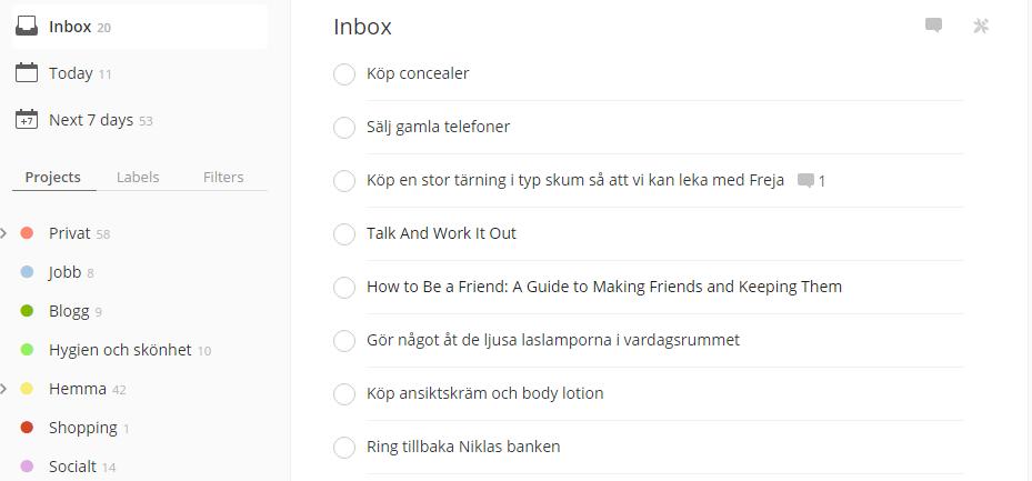 Såhär kan det se ut i min inbox efter en dag av blandade noteringar.