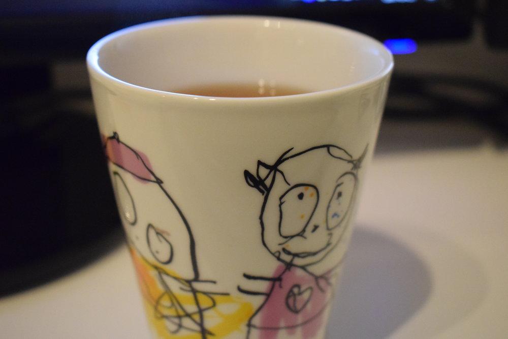 19:00 En kopp te och lite brainstormande kring bloggen.