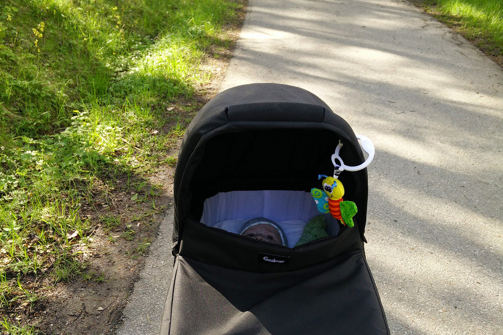Barnvagn promenad