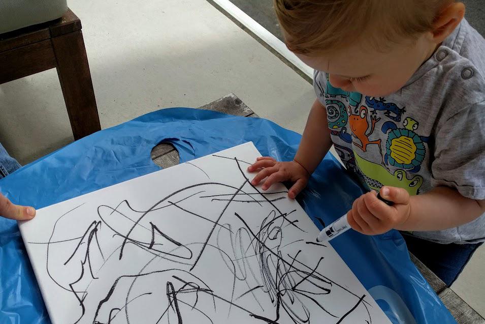 barn målar tavlor