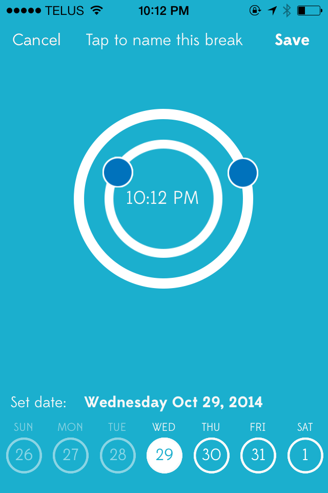 Inactive time dial