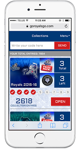 Mobile screenshot of collections