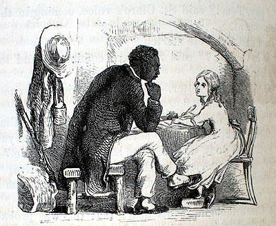 "Tom and Eva, Illustration by Hammat Billings from the 1853 edition of Harriet Beecher Stowe's ""Uncle Tom's Cabin; or, Life Among the Lowly"""