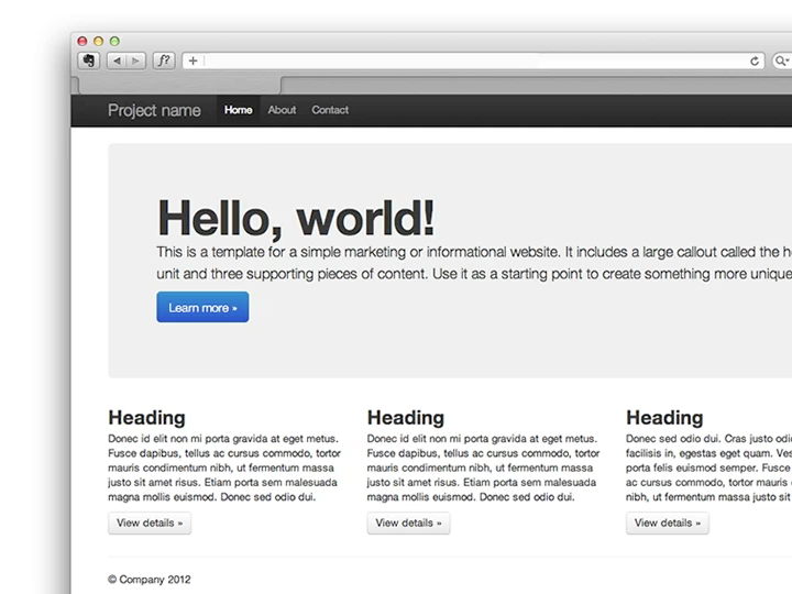 An example of a prototype a web developer might produce when trying to understand basic page layout.