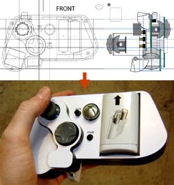 A one-handed XBOX controller, from schematic to built artifact. (Photo and How-To credit: Ben Heck)