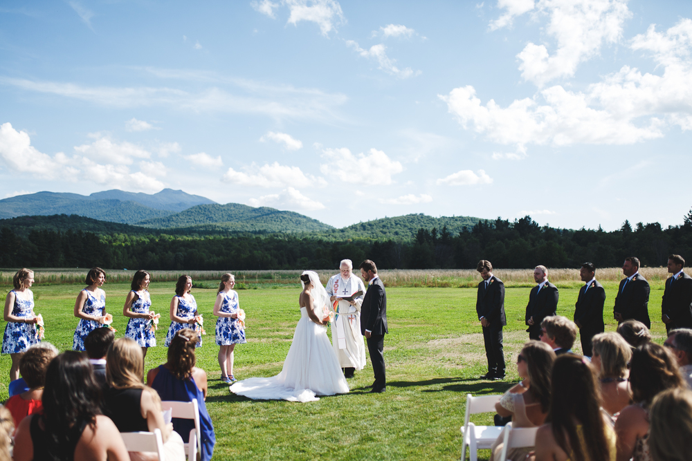 Outdoor ceremony at The Barn at Smugglers Notch