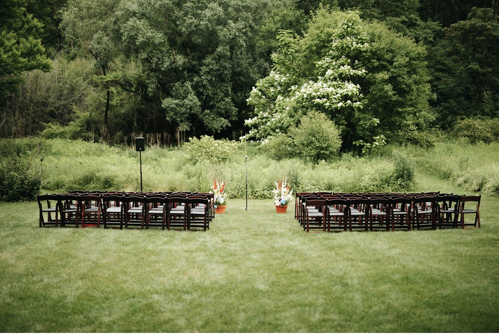 Outdoor ceremony setup at Willowwood Arboretum, NJ
