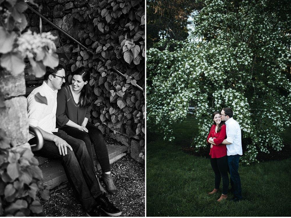 couple diptych at Boston Arnold Arboretum