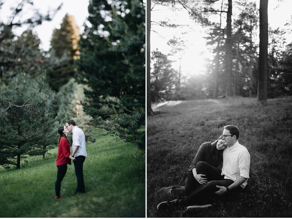 Engagement session at the Arnold Arboretum in Boston