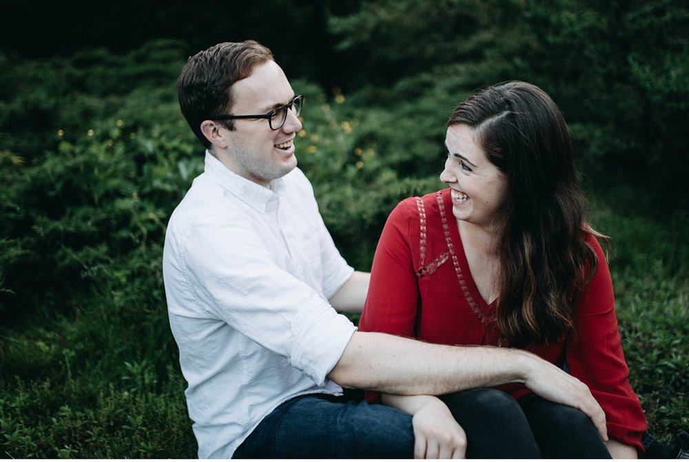 Evening engagement session in Boston park