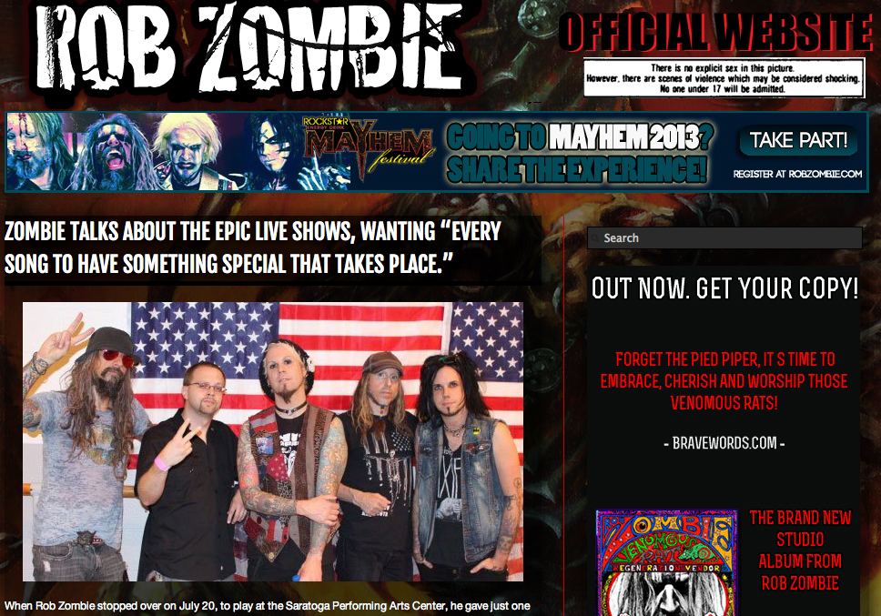 Rob Zombie Website on 20130729.jpg