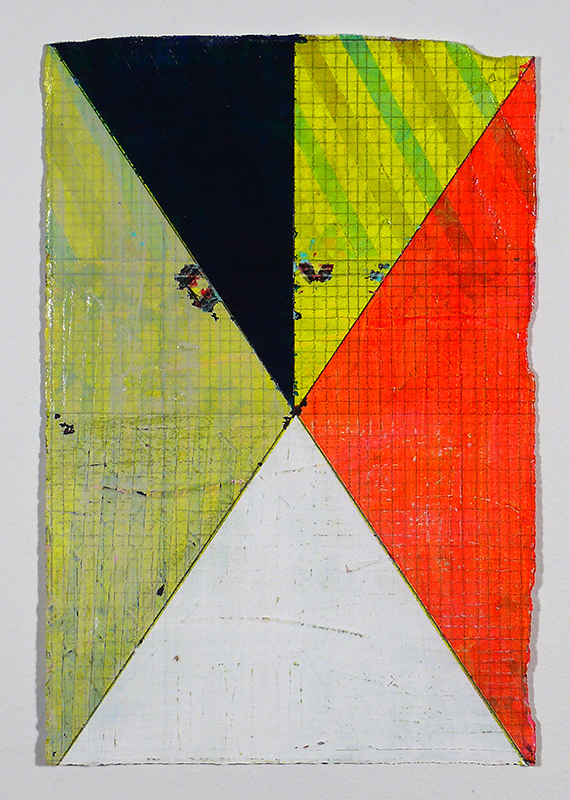 "NY13#04, 11"" X 7.5"", mixed media on paper, 2013  textiles at Spoonflower  SOLD"