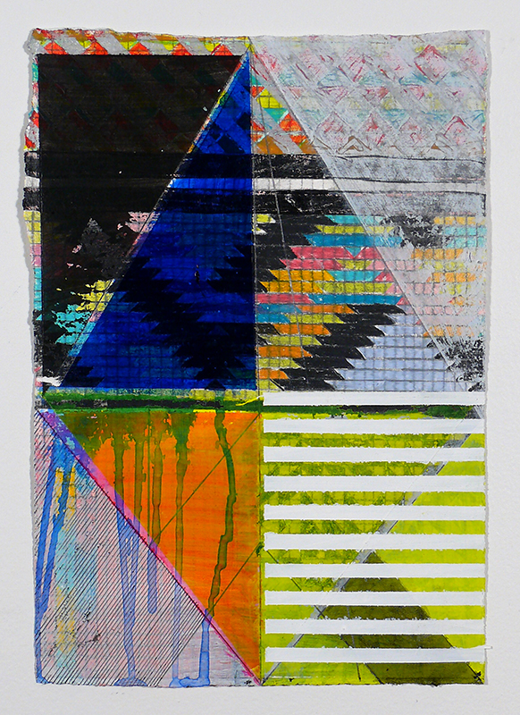"N Y13#03, 11"" X 7.5"", mixed media on paper, 2013  available at Etsy"