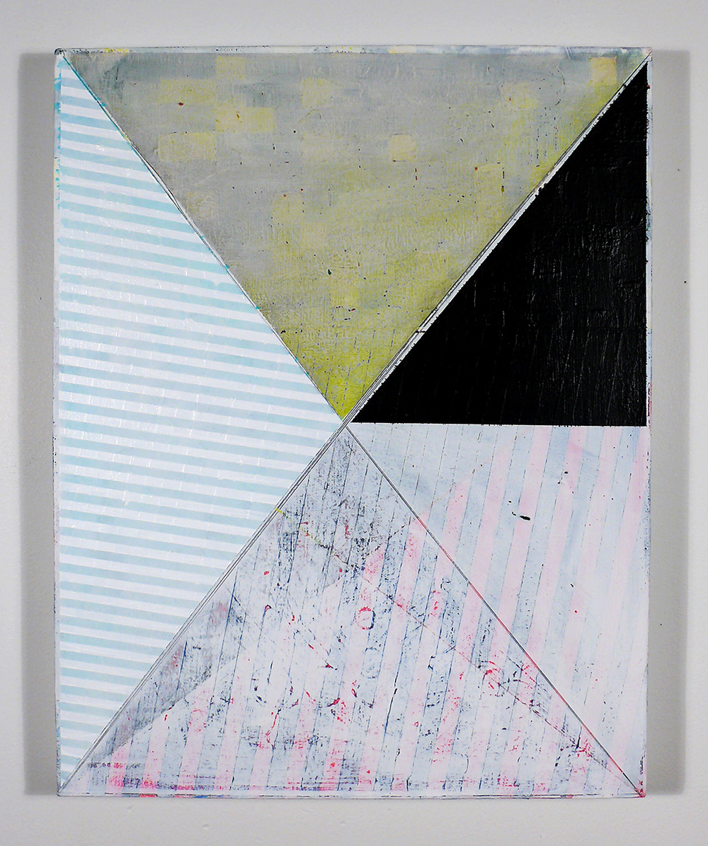 "NY13#09, 20"" X 16"", mixed media on canvas, 2013  a  vailable at Jen Bekman Gallery"