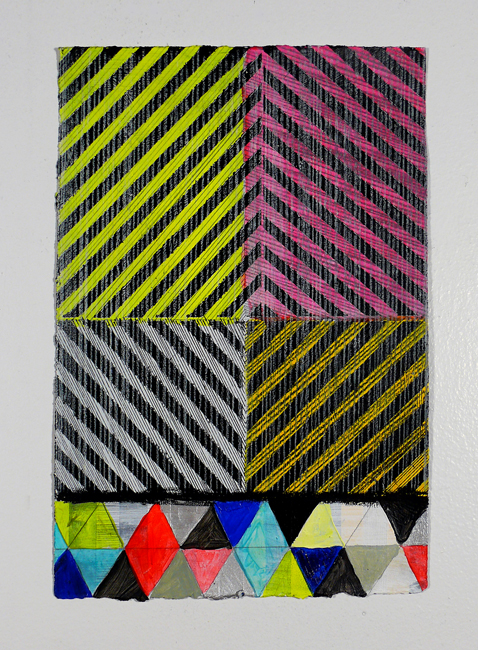 "NY12#01, 11"" X 7.5"", mixed media on paper, 2012  available at Etsy   limited edition prints at Art.com   textiles at Spoonflower"