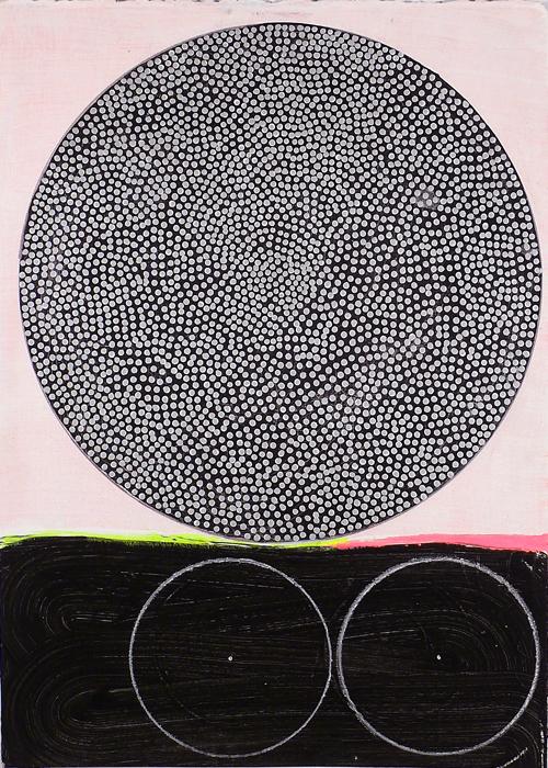 """NY1102, 21"""" X 15"""", mixed media on paper, 2011"""
