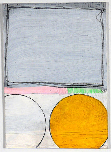 "NY11#15, 7"" X 5"", mixed media on paper, 2011, SOLD"