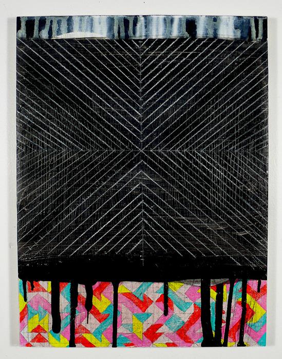 """NY1137, 16"""" X 12"""", mixed media on panel, 2011"""
