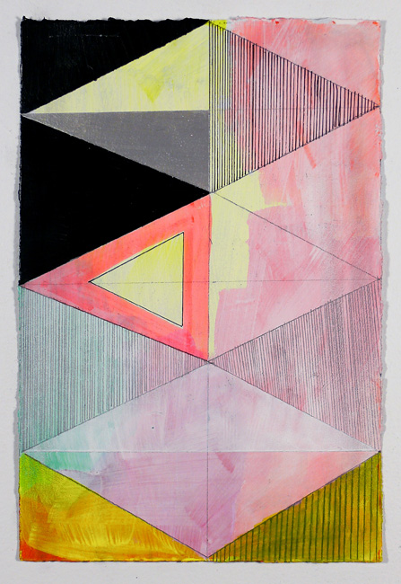 "NY1142, 11"" X 7.5"", mixed media on paper, 2011"