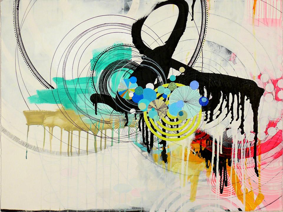 """NY1001, 22"""" x 30"""", mixed media on paper, 2010"""