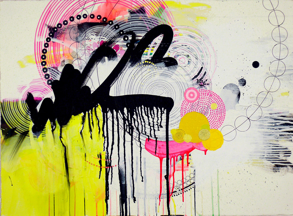 "NY10#02, 22"" x 30"",  mixed media on paper,  2010  available at Parts Gallery"