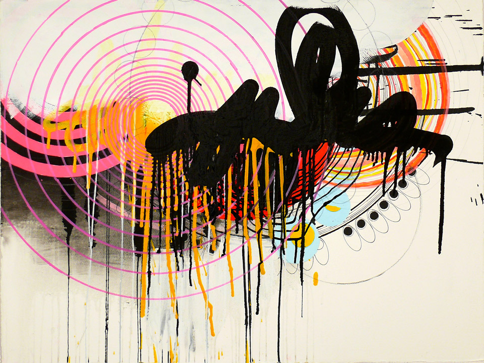 "N Y10#03, 22"" x 30"",  mixed media on paper,  2010  Limited Edition at 20x200.com   available at Parts Gallery"