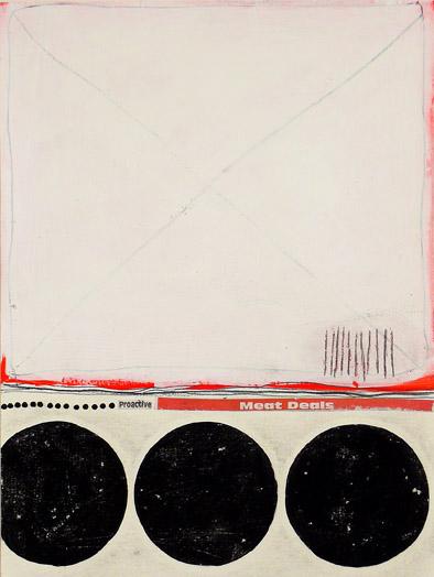 """NY10#23,12"""" x 9"""",mixed media on paper,2010 SOLD"""