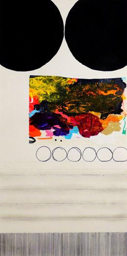 """NY10#24,18"""" x 9"""",mixed media on paper,2010  available at Etsy"""